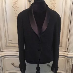 Gently Used Chanel Tweed Silk Crop Blazer